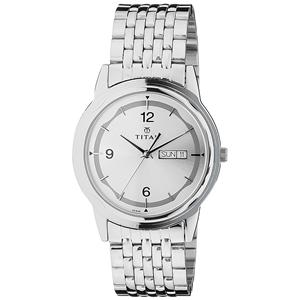 Titan Karishma Analog Silver Dial Men's Watch -1638SM01