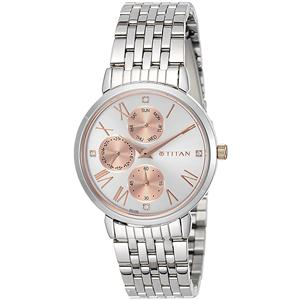 Titan Ladies Neo-Ii Analog Rose Gold Dial Women's Watch-2569KM01