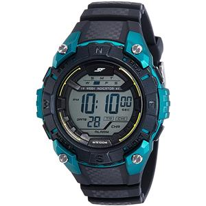 Sonata Digital Black Dial Men's Watch-77054PP01