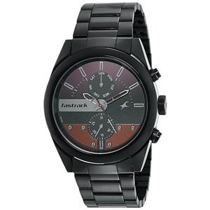 Fastrack Analog Black Dial Men's Watch-3165NM01