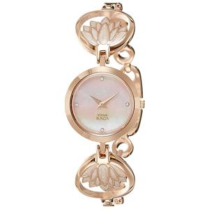 Titan Raga Analog Mother of Pearl Dial Women's Watch - NK2540WM01