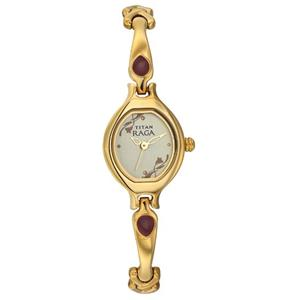 Titan Raga Analog Champagne Dial Women's Watch - NK2387YM06