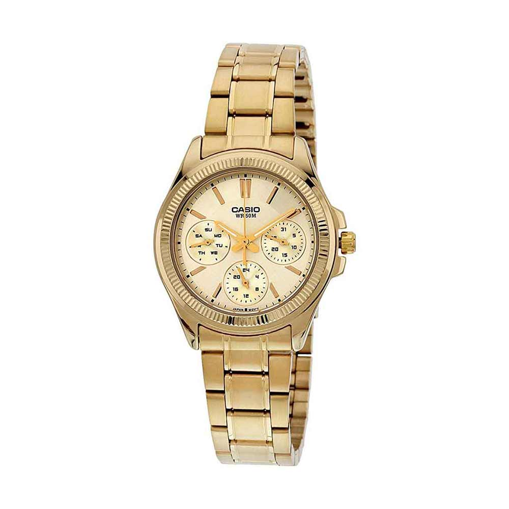 Casio Enticer Ladies Analog Gold Dial Women's Watch
