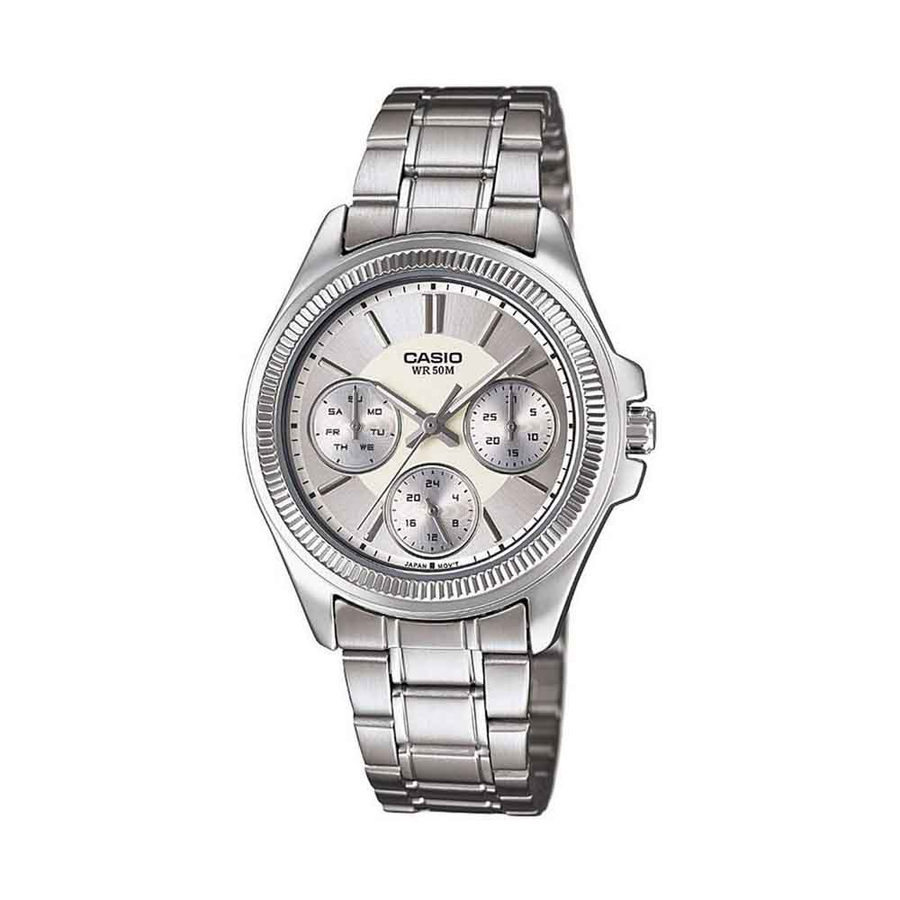 Casio Enticer Ladies Analog Silver Dial Women's Watch