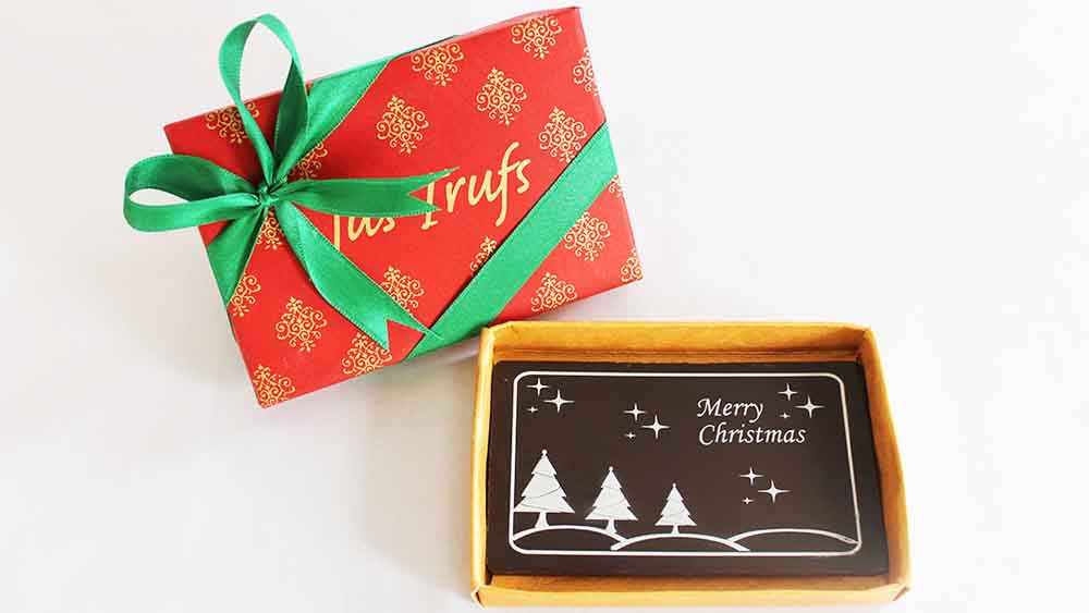 Chocolates & Cookies-Merry Christmas Chocolate Bar