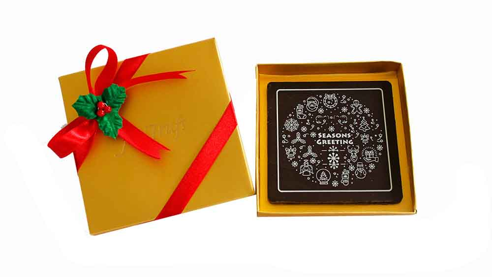 Chocolates & Cookies-Seasons Greeting Chocolate Bar