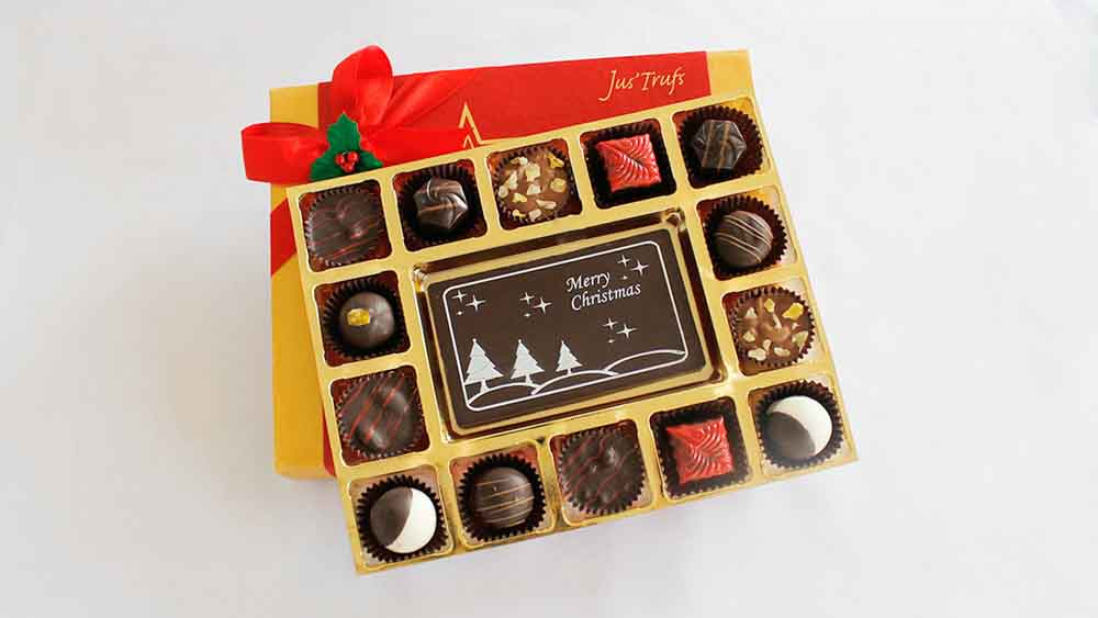 Merry Christmas Cheer with Luxury Chocolate Truffles