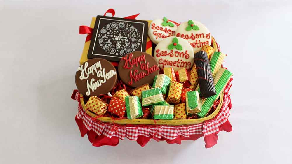 Chocolates & Cookies-New Year Indulgence Chocolate Hamper