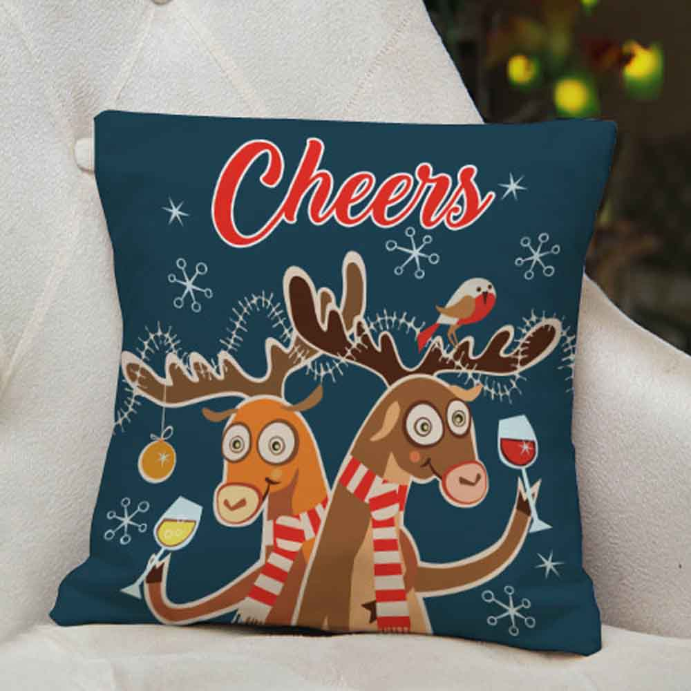 Christmas Decorations-Funny printed Cushion