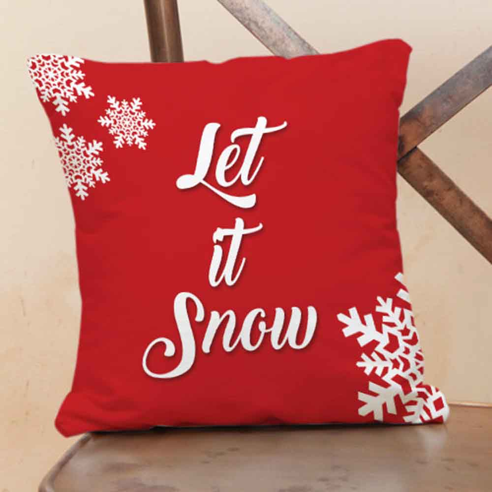 Christmas Decorations-Let It Snow Cushions