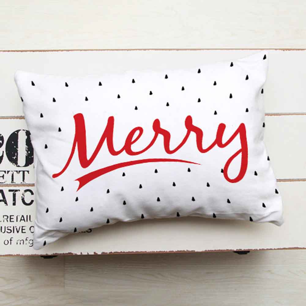Christmas Decorations-Printed Greeting Cushion
