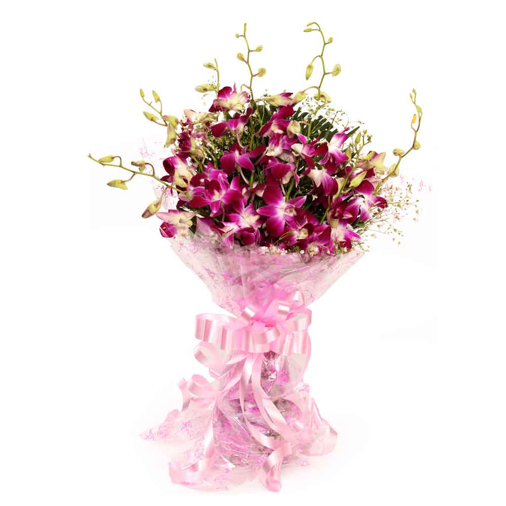 Fresh Flowers-Splendid Purple Orchids