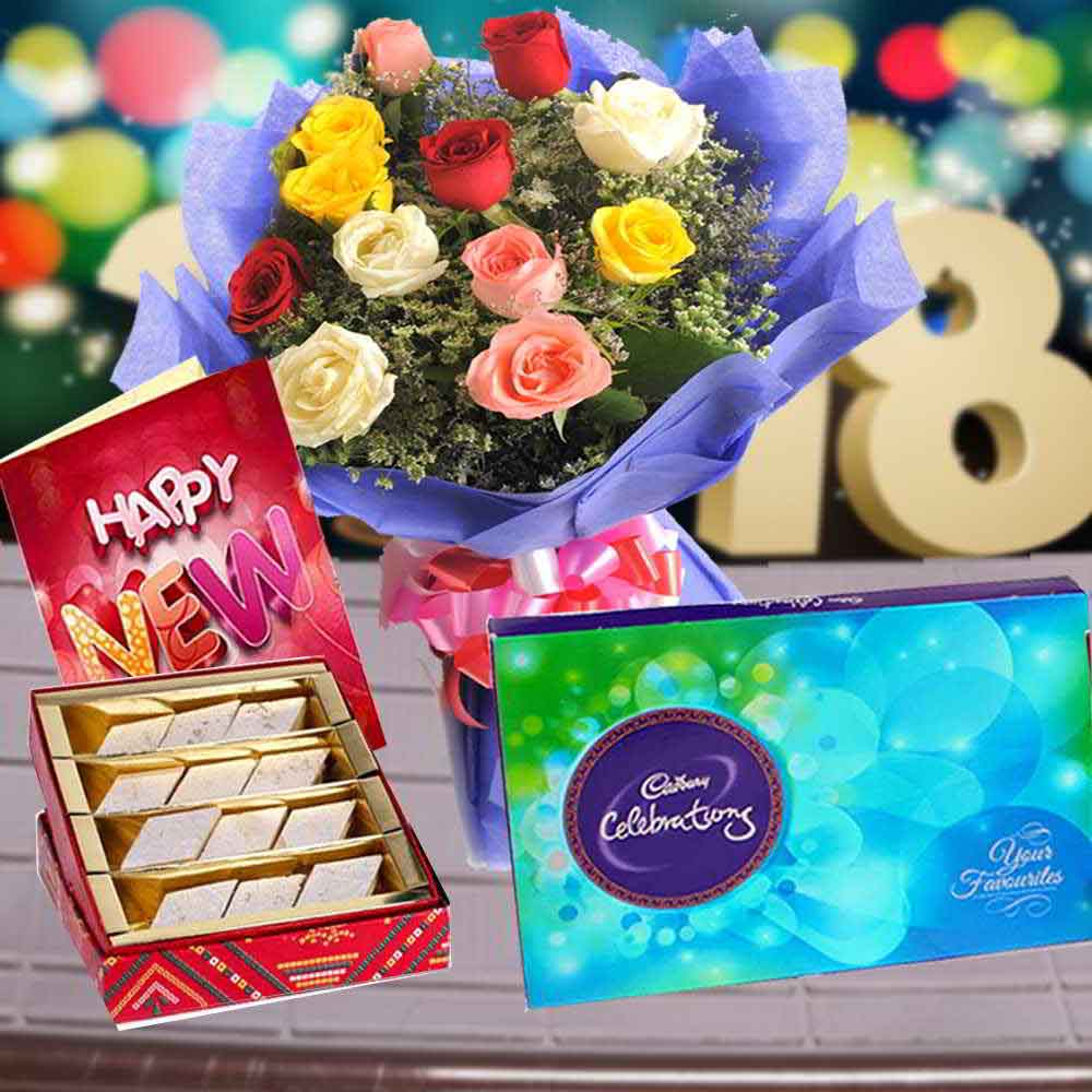 Floral Hampers-Exclusive New Year Combo
