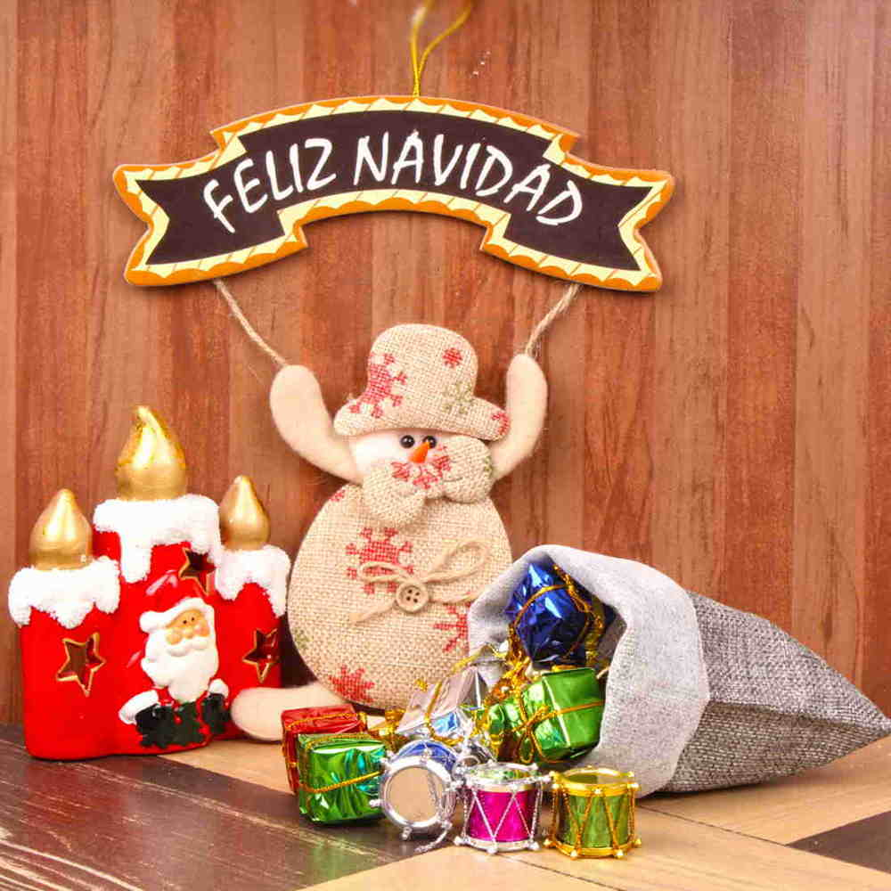 Christmas Decorations-Wish Merry Christmas in Spanish Way
