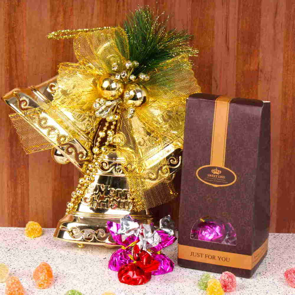 Christmas Hampers-Xmas Bell with Home Made Jelly Chocolates