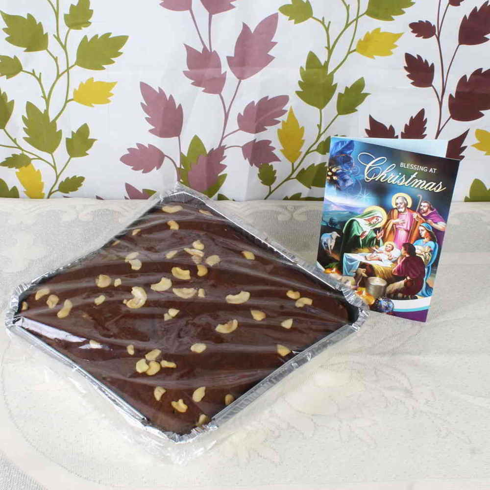 Christmas Hampers-Plum Cake with Christmas Greeting Card