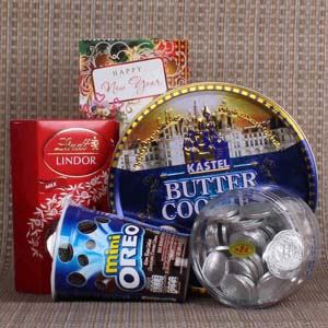 Chocolates & Cookies-New Year Exclusive Cookies and Chocolate Hamper