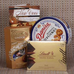 Chocolates & Cookies-New Year Imported Chocolates and Cookies Combo