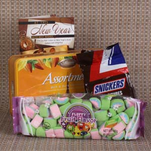 Chocolates & Cookies-Marshmallow with Chocolate New Year Combo
