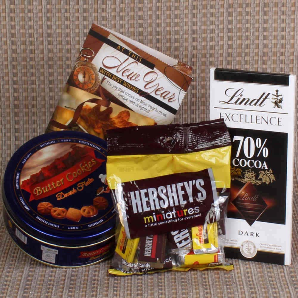 Imported Chocolates with Cookies Hamper New Year Gift