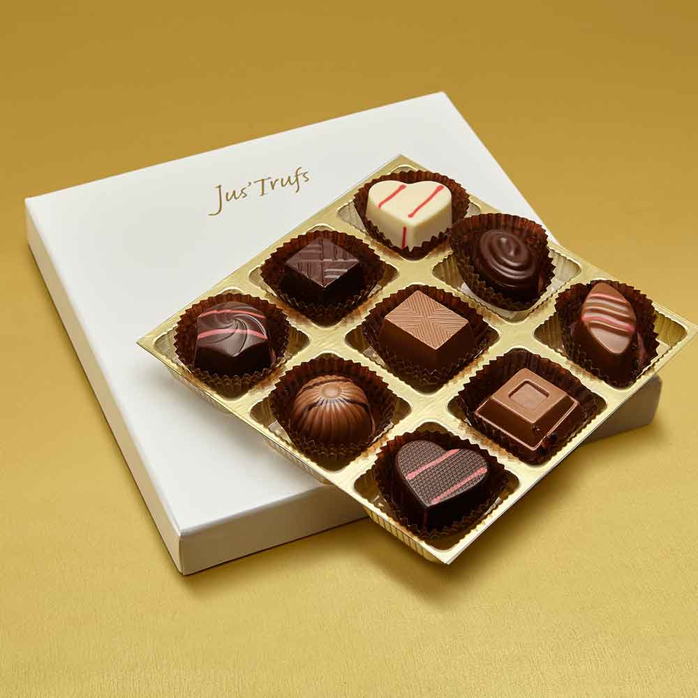 Christmas Premium Assortment of Classic Truffles Box of 9