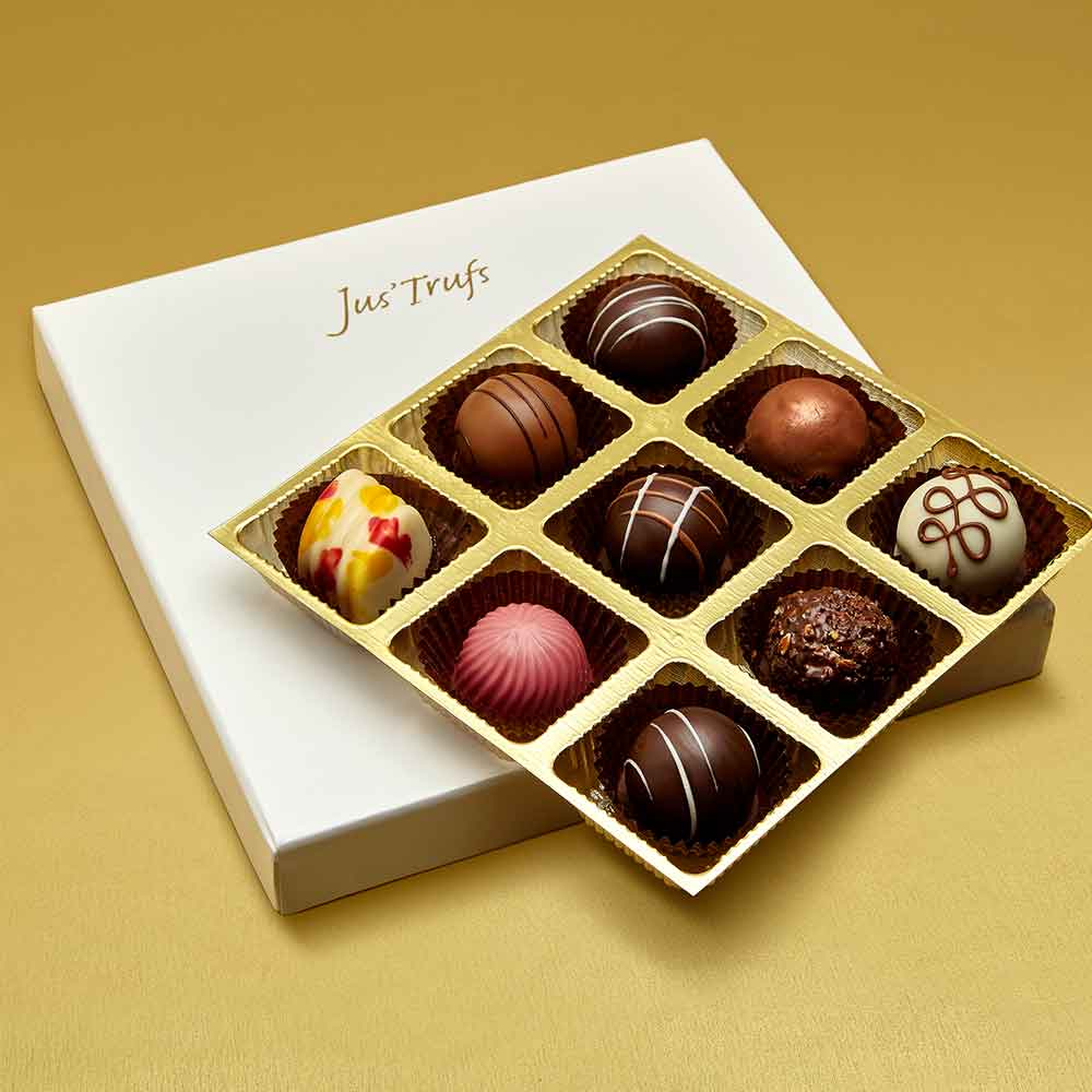 Christmas Assortment of Belgian Pralines box of 9