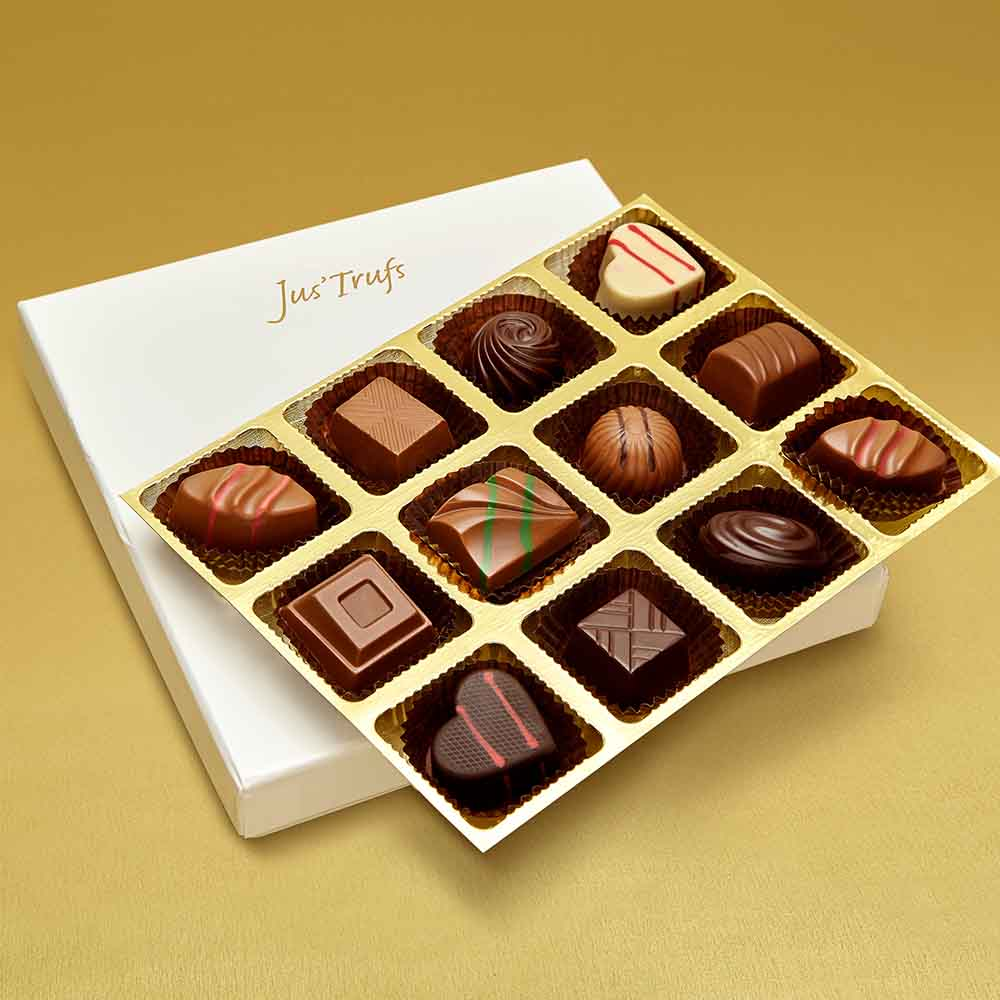 Christmas Premium Assortment of Classic Truffles Box of 12