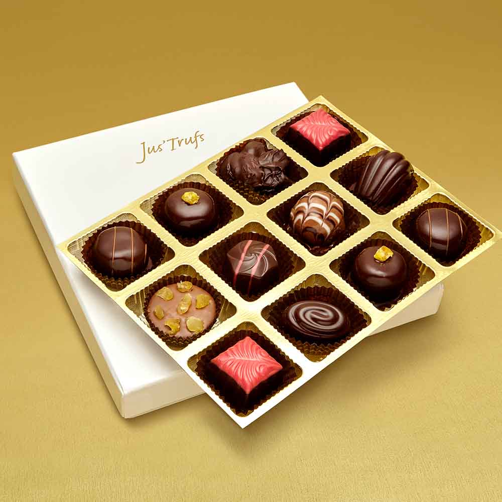 Christmas Luxury Assortment of Chocolate Truffles box of 12