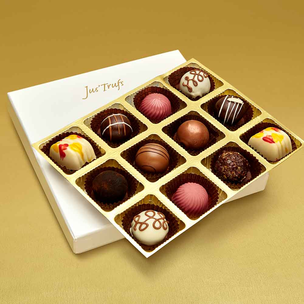 Christmas Assortment of Belgian Pralines box of 12