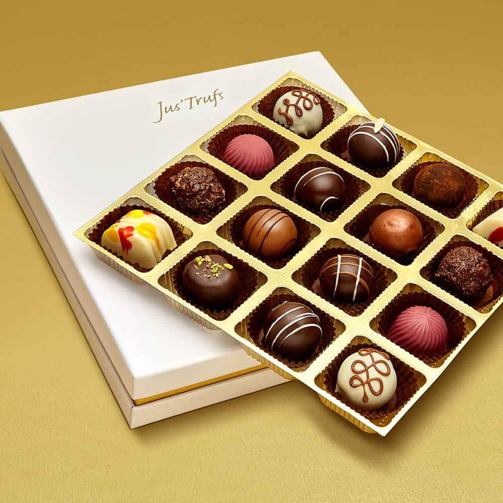 Christmas Assortment of Belgian Pralines box of 16