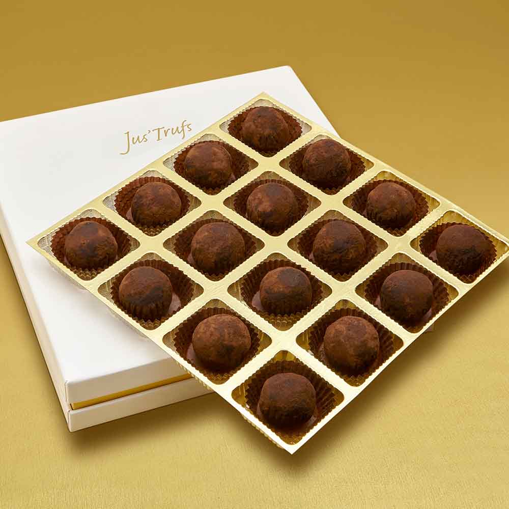 Christmas Artisanal Milk Chocolate Jaggery Truffles Box of 16