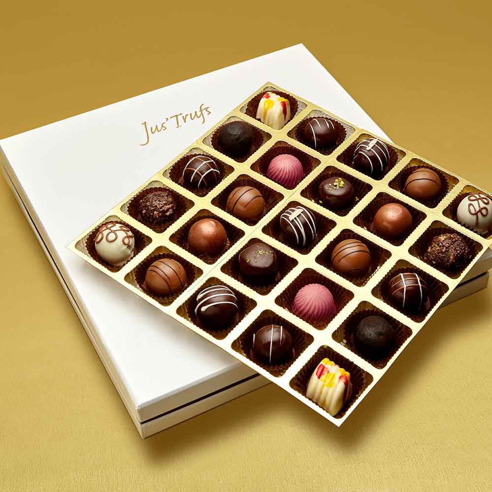 Christmas Assortment of Belgian Pralines box of 25