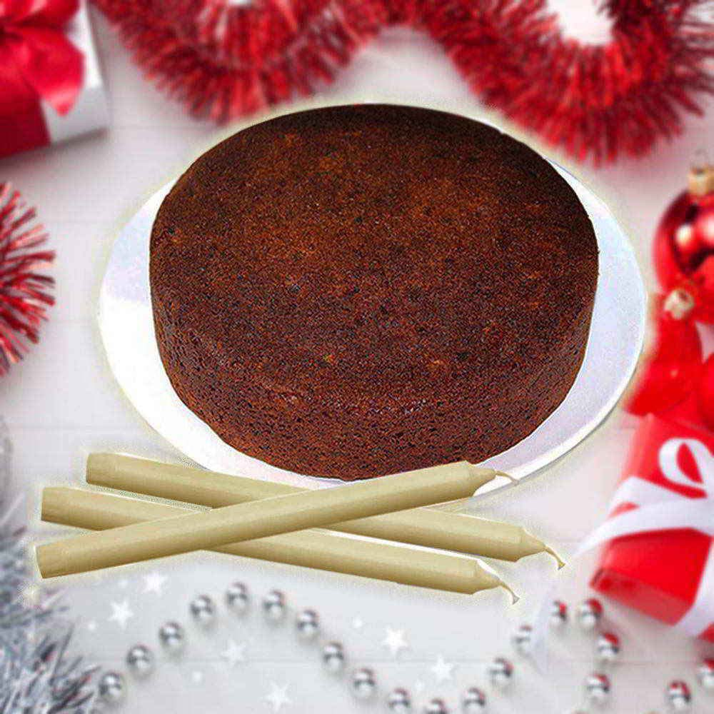 Cakes-Long Candles with Plum Cake