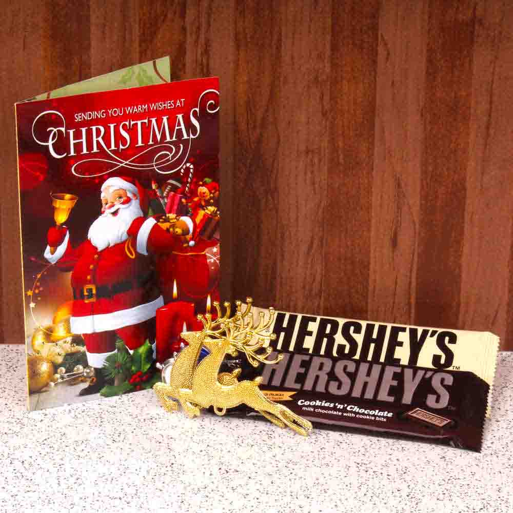 Hersheys Chocolate With Christmas Card