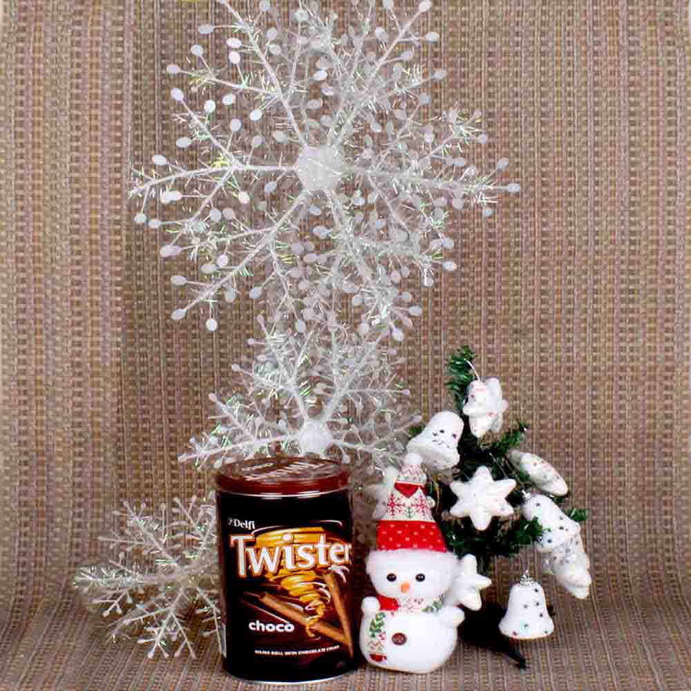 Christmas Snow Man Choco Hamper