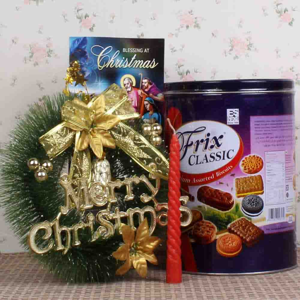 Christmas Wreath and Biscuits Box