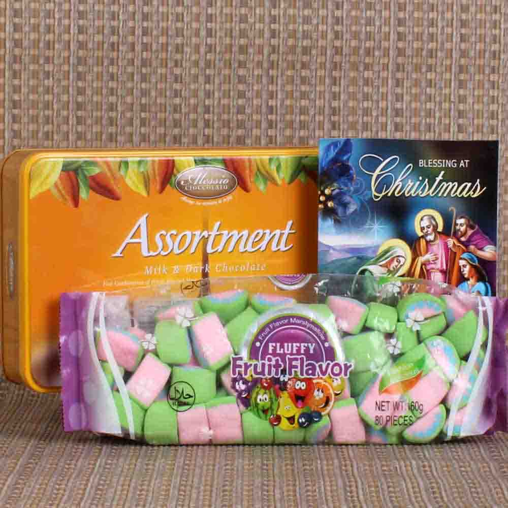 Assortment Chocolate with Marshmallow Christmas Gift