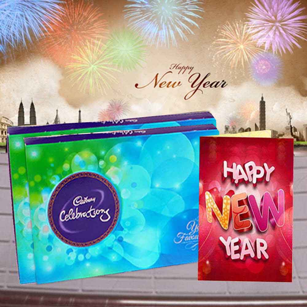 2 Cadbury Celebration with New Year Greeting Card