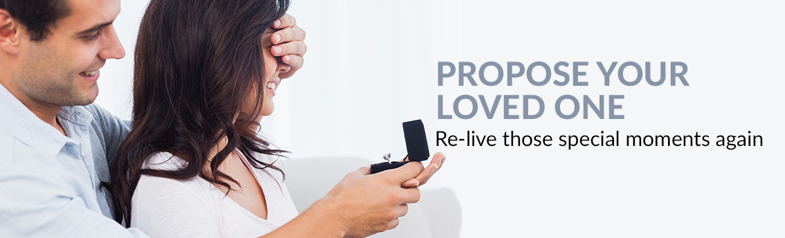 Propose your loved one Re-live those special moments again